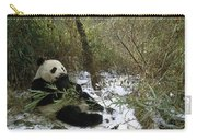Giant Panda Eating Bamboo Wolong China Carry-all Pouch
