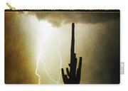 Giant Saguaro Lightning Spiral Fine Art Photography Print Carry-all Pouch