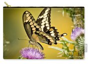 Giant Swallowtail On Thistle Carry-all Pouch