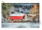 Gifford Covered Bridge In Winter Carry-all Pouch