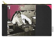 Gil Grant Technical Director Kvoa Tv 1969 Vignetted Color Added Collage 2013 Bob Curzon Photo Carry-all Pouch