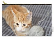 Ginger Cat With Yarn Ball Carry-all Pouch