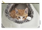 Ginger Kitten In An Igloo Carry-all Pouch