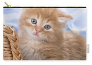 Ginger Kitten In Basket Carry-all Pouch