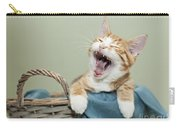 Ginger Kitten Yawning Carry-all Pouch