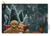 Gingerbread Family In Snow Carry-all Pouch
