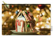Gingerbread House Against A Background Of Christmas Tree Lights Carry-all Pouch