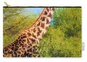 Giraffe Among Trees. Safari In Serengeti. Tanzania Carry-all Pouch