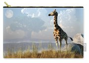 Giraffe And Giant Baobab Carry-all Pouch