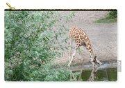 Giraffe Drinking Carry-all Pouch