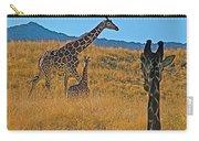 Giraffe Family In Living Desert Museum In Palm Desert-california Carry-all Pouch
