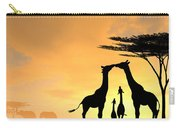 Giraffe Family Love Two Kids Carry-all Pouch