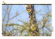 Giraffe Giraffa Camelopardalis Peeping From Acacia Carry-all Pouch