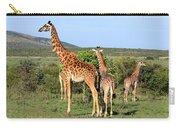 Giraffe Group On The Masai Mara Carry-all Pouch