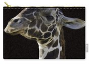 Giraffe In The Morning Pixelated Carry-all Pouch