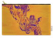Giraffe Love Carry-all Pouch by Jane Schnetlage