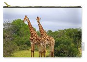 Giraffe Males Before The Storm Carry-all Pouch