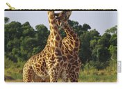 Giraffe Males Sparring Masai Mara Kenya Carry-all Pouch