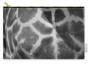 Giraffe Pattern Black And White Carry-all Pouch