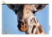 Giraffe Portrait Close-up. Safari In Serengeti. Carry-all Pouch