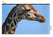 Giraffe Portrait Close-up. Safari In Serengeti. Tanzania Carry-all Pouch