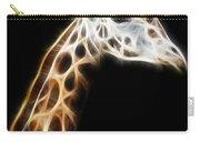 Giraffe Portrait Fractal Carry-all Pouch
