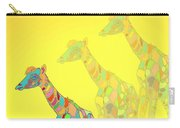 Giraffe X 3 - Yellow - The Card Carry-all Pouch