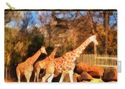 Giraffes At The Zoo Carry-all Pouch