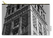 Giralda In Black And White Carry-all Pouch