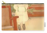 Girl And Rocking Chair Carry-all Pouch
