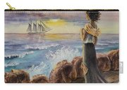 Girl And The Ocean Sailing Ship Carry-all Pouch