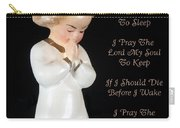 Girl Childs Bedtime Prayer Carry-all Pouch