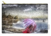 Girl In Red Coat Carry-all Pouch