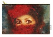 Girl In Red Turban Carry-all Pouch