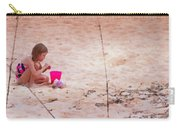Girl In The Sand Carry-all Pouch