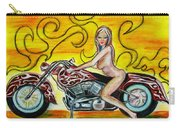 Girl On A Motorcycle Carry-all Pouch