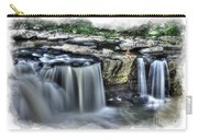 Girl On Rock At Falls Carry-all Pouch by Dan Friend