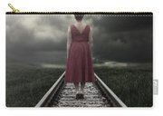 Girl On Tracks Carry-all Pouch