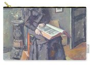 Girl Reading A Book Carry-all Pouch