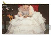 Girl Reading Carry-all Pouch by Alfred Emile Stevens