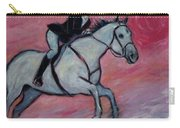 Girl Riding Her Horse I Carry-all Pouch