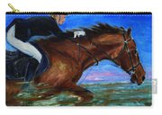 Girl Riding Her Horse II Carry-all Pouch