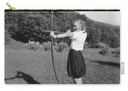 Girl Scout With Bow And Arrow Carry-all Pouch