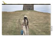 Girl Walks To A Chapel Carry-all Pouch by Joana Kruse