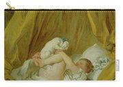 Girl With A Dog Carry-all Pouch by Jean Honore Fragonard