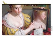 Girl With A Mirror, An Allegory Carry-all Pouch