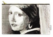 Girl With A Pearl Earring By Jan Vermeer Van Delft Carry-all Pouch