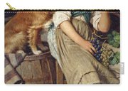 Girl With Dog Carry-all Pouch