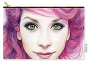 Girl With Magenta Hair Carry-all Pouch