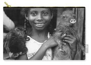 Girl With Pet Peccary Carry-all Pouch